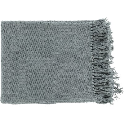 Polaris Cotton Throw Blanket Color: Gray