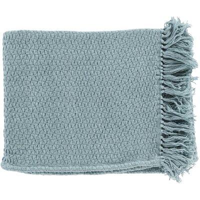 Polaris Cotton Throw Blanket Color: Mint