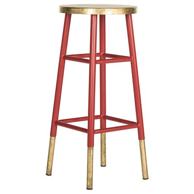 Mizar 30 Bar Stool Upholstery: Red / Gold