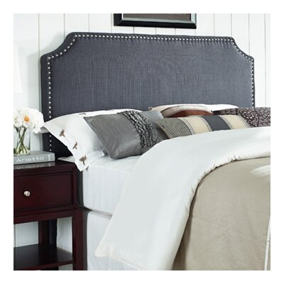 Luna Nail Trim Upholstered Panel Headboard Size: Full / Queen, Upholstery: Graphite