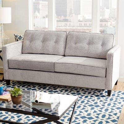 Serta Upholstery Cypress Sofa Upholstery: Elizabeth Silver/Mali Denim