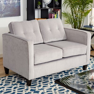 Serta Upholstery Cypress Loveseat Upholstery: Elizabeth Silver / Mali Denim
