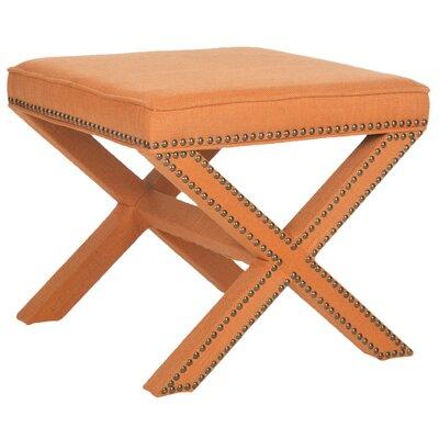 Leia Ottoman Upholstery: Orange