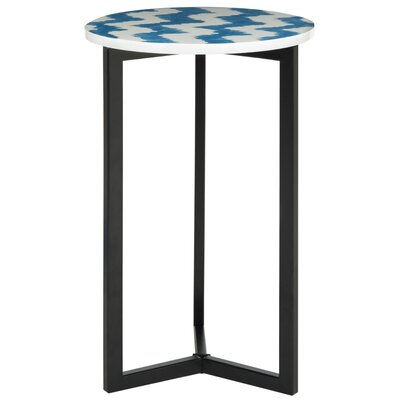 Lazy Acres Side Table Color: Blue / White