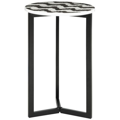Lazy Acres Side Table Color: Black / White