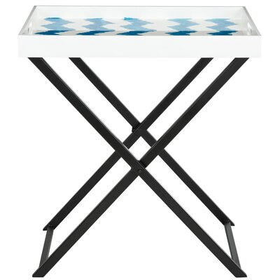 Olympia End Table Finish: Blue / White