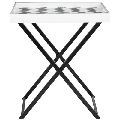 Lazy Acres End Table Color: Black / White