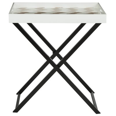 Olympia End Table Finish: Warm Gray/White