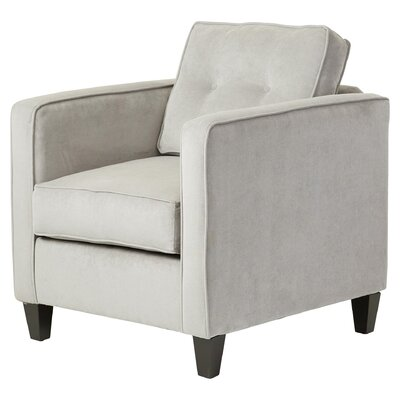 Serta Upholstery Cypert Cypress Arm Chair Color: Elizabeth Silver / Mali Denim