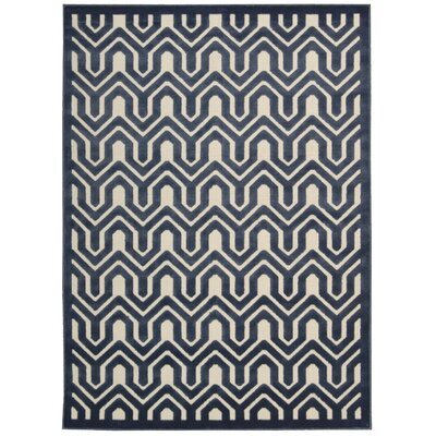 Zopyros Ivory/Black Area Rug Rug Size: Rectangle 76 x 96
