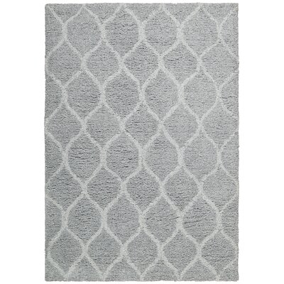 Searcy Hand-Tufted Gray Area Rug Rug Size: Rectangle 76 x 96