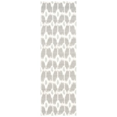 Tabris Gray/Ivory Area Rug Rug Size: Runner 26 x 8