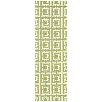 Anemone Green Area Rug Rug Size: Runner 26 x 8