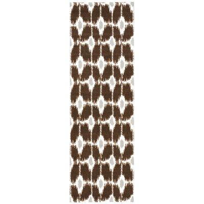 Vandervort Cocoa/Ivory Area Rug Rug Size: Runner 26 x 8