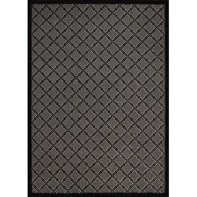 Zopyros Black Area Rug Rug Size: Rectangle 53 x 73
