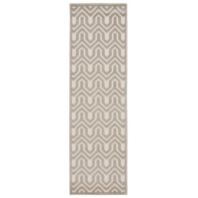 Zopyros Light Gray Area Rug Rug Size: Rectangle 22 x 7