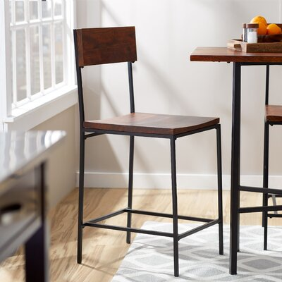 Xenia 24 Bar Stool Finish: Chestnut