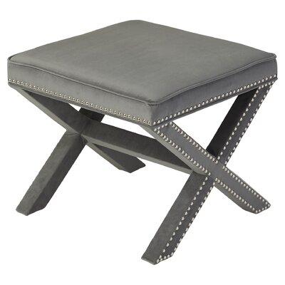 Leia Ottoman Upholstery: Grey
