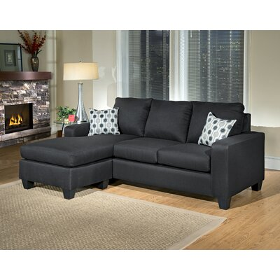 Morpheus Reversible Sectional Upholstery: Stoked Black / Synchronicity Black