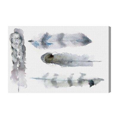 'Plumes Fashion Art' Wrapped Canvas Print