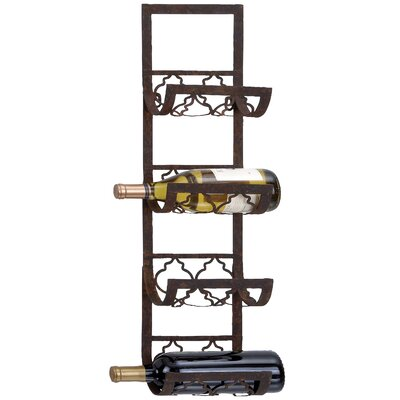 Brashears 4 Bottle Wall Mounted Wine Rack