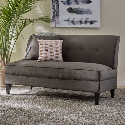 Perseus Loveseat Upholstery: Basil Green Linen