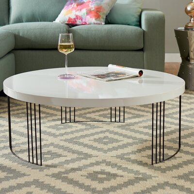 Ambrosios Coffee Table Color: White