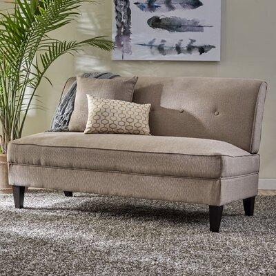 Perseus Loveseat Upholstery: Barley Tan Linen