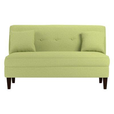 Perseus Loveseat Upholstery: Kiwi Green Linen