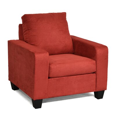 Elene Armchair Color: Bulldozer Burgundy