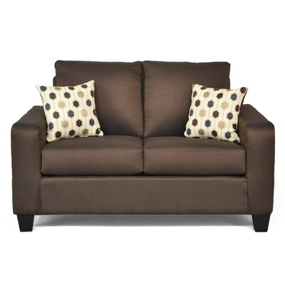 Dorothea� Loveseat Upholstery: Stoked Chocolate