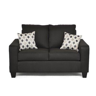 Dorothea� Loveseat Upholstery: Stoked Black