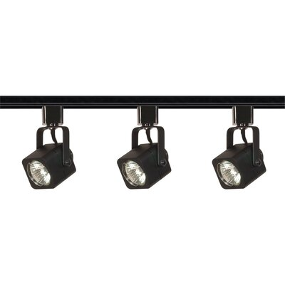 Polytric 3-Light Square Full Track Lighting Kit Finish: Black