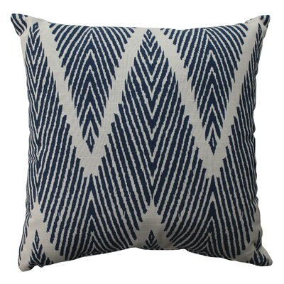 Oliver 100% Cotton Throw Pillow Size: 16.5 H x 16.5 W x 5 D, Color: Navy