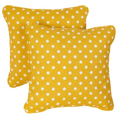 Midkiff Indoor/Outdoor Throw Pillow Fabric: Yellow Dots, Size: 18 H x 18 W