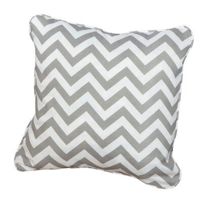 Middletown Indoor/Outdoor Throw Pillow Size: 22 H x 22 W, Fabric: Chevron Grey