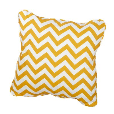 Middletown Indoor/Outdoor Throw Pillow Size: 22 H x 22 W, Fabric: Chevron Yellow