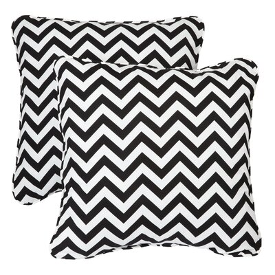 Middletown Indoor/Outdoor Throw Pillow Fabric: Chevron Black, Size: 22 H x 22 W