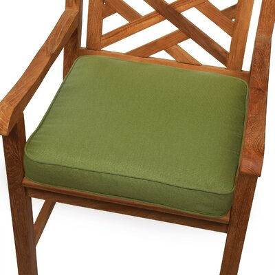 Outdoor Sunbrella Dining Chair Seat Cushion Size: 20 W x 20 D, Fabric: Cilantro Green