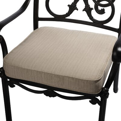 Outdoor Sunbrella Dining Chair Seat Cushion Size: 20 W x 20 D, Fabric: Textured Sand