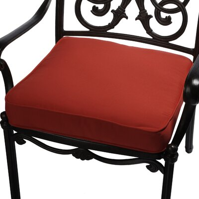 Outdoor Sunbrella Dining Chair Seat Cushion Size: 20 W x 20 D, Fabric: Red