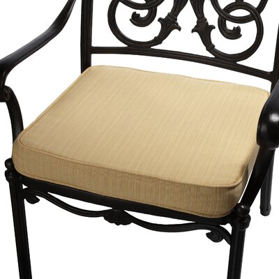 Outdoor Sunbrella Dining Chair Seat Cushion Size: 19 W x 19 D, Fabric: Textured Corn Yellow