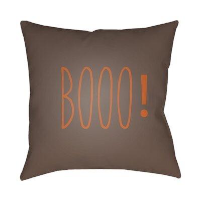 Indoor/Outdoor Throw Pillow Color: Brown, Size: 20 H x 20 W x 4 D
