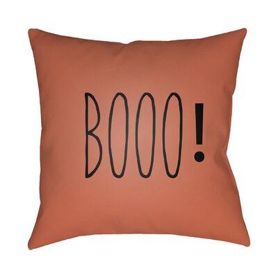 Indoor/Outdoor Throw Pillow Size: 20 H x 20 W x 4 D, Color: Orange