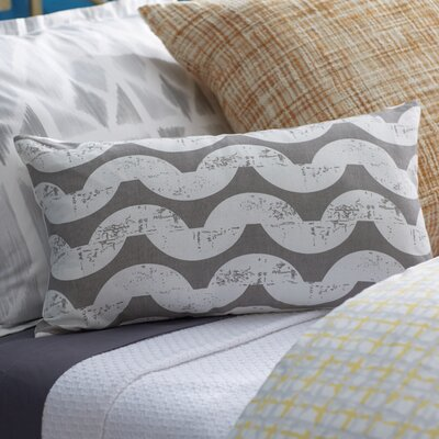 Ampelius Cotton Lumbar Pillow Color: Gray