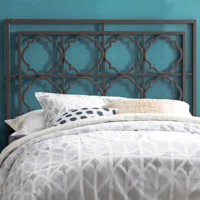 Cepheus Metal Headboard Size: Twin, Finish: Gunmetal