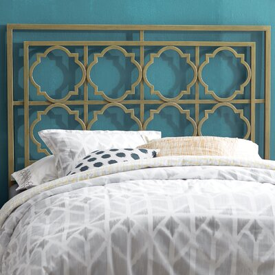 Cepheus Open-Frame Headboard Size: Twin, Color: French Silver