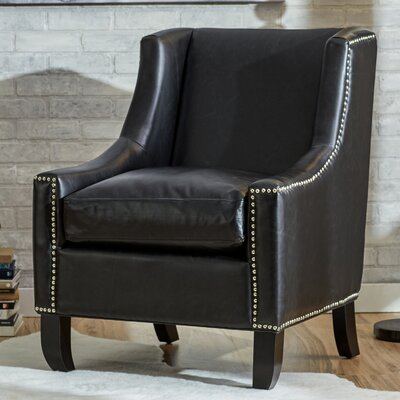 Arissa Wingback Arm Chair Color: Antique Black