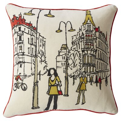Artiaga Embroidered Paris Street Throw Pillow