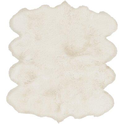 Anaxagoras Hand-Woven White Area Rug Rug Size: Rectangle 6 x 8